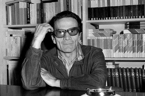 Vittorio La Verde - Pier Paolo Pasolini alla libreria Croce. Roma, anni '70