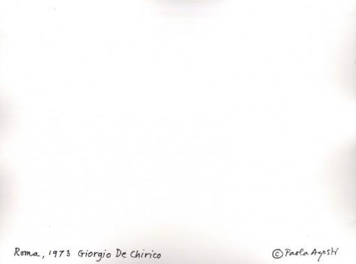 Paola Agosti - Giorgio De Chirico. Roma, 1973