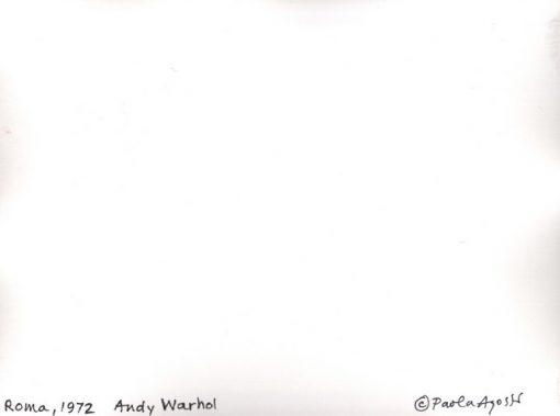 Paola Agosti - Andy Warhol. Roma, 1972