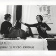 Paola Agosti - Seminario CISA con Emma Bonino (a destra). Roma, 24 aprile 1976