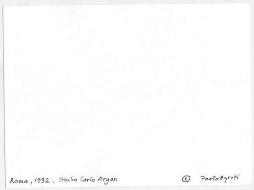 Paola Agosti - Giulio Carlo Argan. Roma, 1992