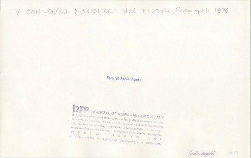Paola Agosti - V Congresso Nazionale del FUORI. Roma, aprile 1976