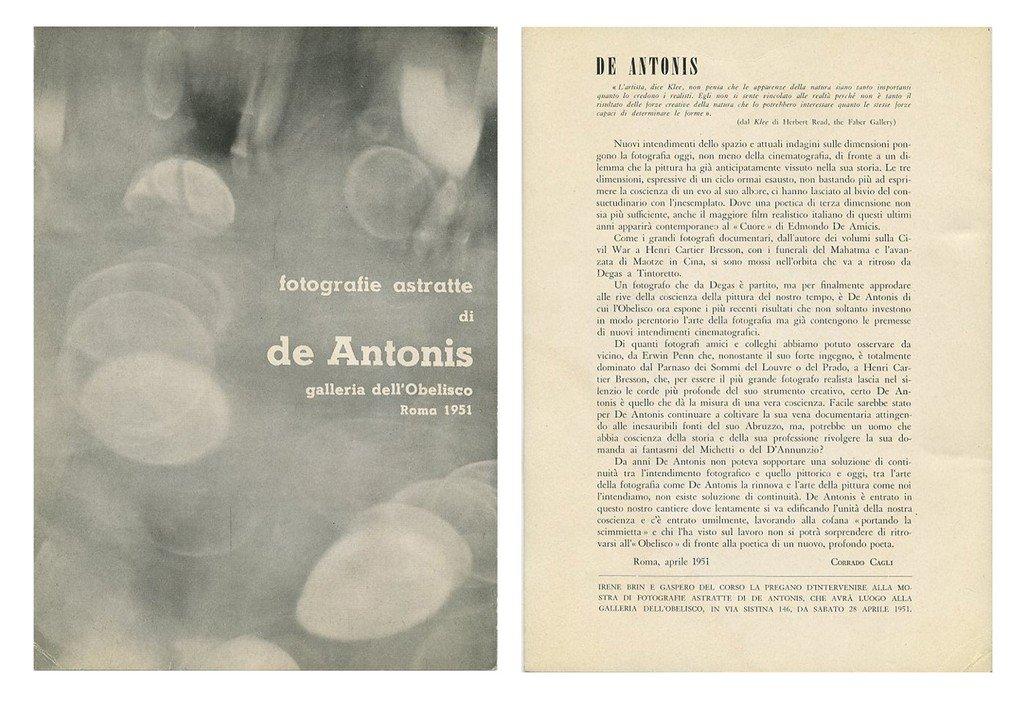 Pasquale De Antonis - fotografie astratte. L'Obelisco, 1951