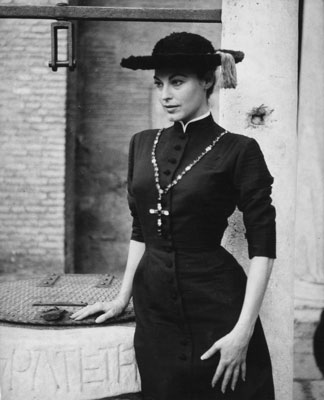 Ava Gardner con un abito di Fontana