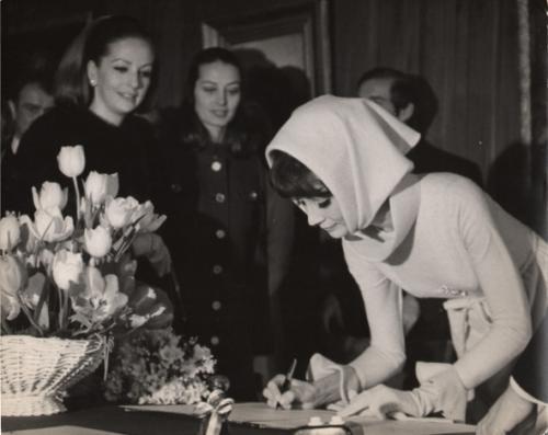 Audrey Hepburn al suo matrimonio con Adrea Dotti, gennaio 1969