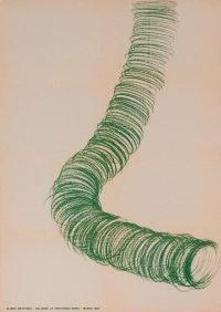 Eliseo Mattiacci - Galleria La Tartaruga 1967 vintage poster