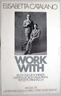 ELISABETTA CATALANO WORK WITH Beuys Chia De Dominicis Gilbert & George Mauri Pisani Pistoletto Prini Tacchi. Poster GALLERIA PAOLO BAROZZI, Venezia, 1978 cm. 58,5 x 48