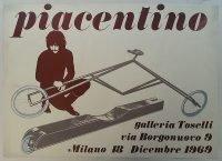 Gianni Piacentino | Galleria Toselli Milano 1969 poster