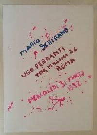 Mario Schifano | Ugo Ferranti 31 marzo 1982 poster