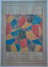 Sol LeWitt | Wall Drawings - Ugo Ferranti 1989 poster