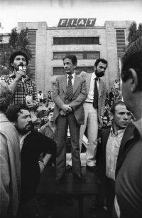 Paola Agosti | Enrico Berlinguer a Mirafiori durante l'occupazione della FIAT. Torino, 1980