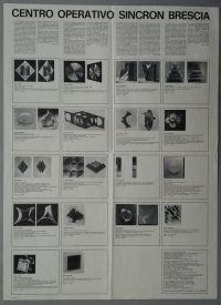 Bruno Munari | Manifesto dei multipli - Centro operativo Sincron Brescia 1968