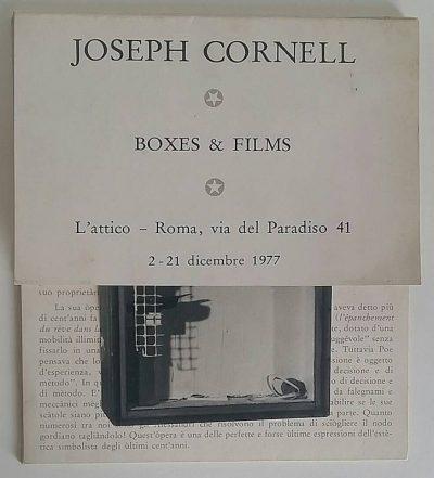 Joseph Cornell | Boxes & Films - L'Attico 1977