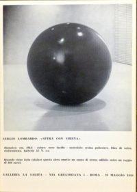 Sergio Lombardo Sfera con sirena - Galleria La Salita, Roma, 1969