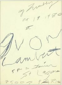 Cy Twombly | Yvon Lambert 1980 poster