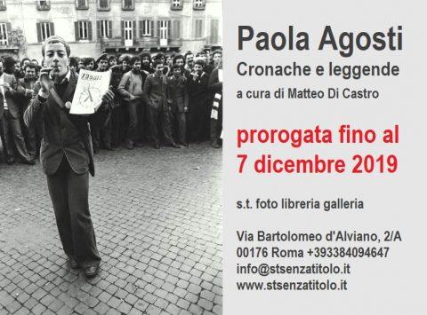 Paola Agosti Cronache e leggende fino a 7 dicembre