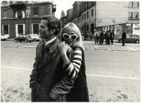 Ugo Mulas | Pier Paolo Pasolini e Laura Betti a Milano per le riprese del film Teorema, 1968
