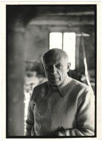Henri Cartier-Bresson | Pablo Picasso nello studio della ceramista Suzanne Ramier. Vallauris,1953