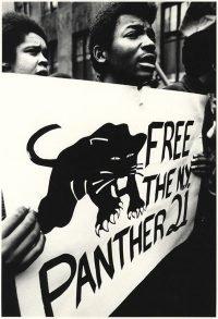 Gianfranco Gorgoni | Manifestazione durante il processo al gruppo 21 Panther. New York, 1969