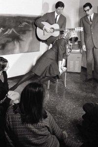 Mario Orfini | Maria Monti, Giorgio Gaber, Enzo Jannacci. Milano, 1963