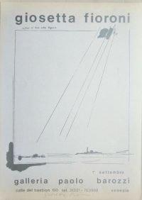 Giosetta Fioroni | Galleria Paolo Barozzi 1970 - poster firmato