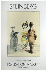 Saul Steinberg - Fondation Maeght 1979 vintage poster