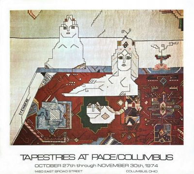 Saul Steinberg Tapestries at Pace Columbus Ohio USA 1974 vintage poster
