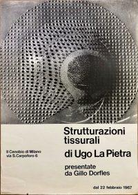 Ugo-La-Pietra-Strutturazioni-tissurali-presentate-da-Gillo-Dorfles-il-Cenobio-Milano-1967-