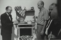 Ugo Mulas | Claes Oldenburg con il gallerista Sidney Janis. New York, 1964