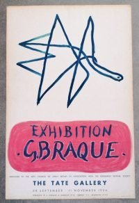 Georges Braque Tate Gallery 1956 vintage poster