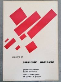 Casimir Malevic Galleria Nazionale d'Arte Moderna Roma 1959 - vintage poster