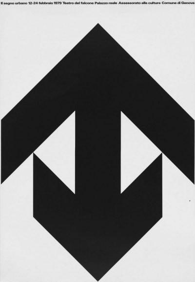AG Fronzoni Il segno urbano, Genova, 1979