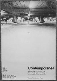 Contemporanea Roma 1973-74 Manifesto originale