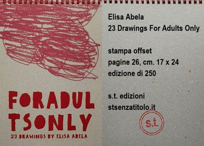 Elisa Abela 23 drawings for adults only flyer