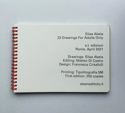 elisa abela 23 drawings for adults only colophon