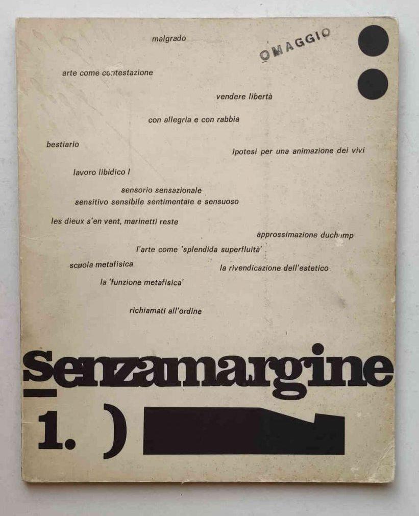 Senzamargine | anno 1, n° 1, gennaio 1969