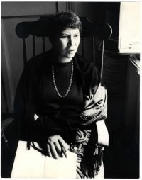 Elisabetta Catalano Natalia Ginzburg nella sua casa di Roma, 1973