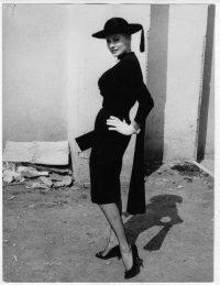 Pierluigi Praturlon Anita Ekberg durante le riprese del film La dolce Vita (1960) di Federico Fellini