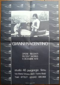Gianni Piacentino | Opere recenti – Studio 46 Pierigiorgio Firinu 1979