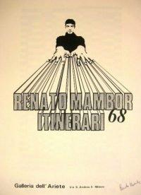 Renato Mambor | Itinerari, Galleria dell'Ariete, 1968 - poster firmato
